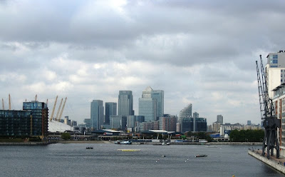View of the Isle of Dogs/Canary Wharf