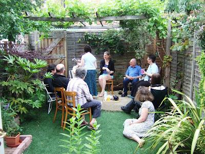 The family in Lola II's garden