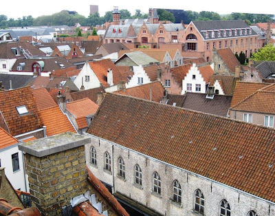 View of rooftops taken from the Brewery roof
