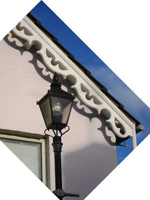 decorative bargeboard and old-fashioned lamppost