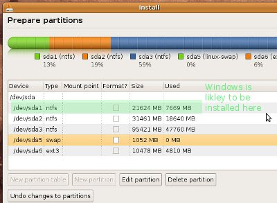 لىنۇكس (Linux) سىستىمىسى Ubuntu-partition-9