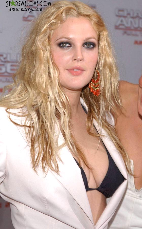 drew barrymore balayage. And Drew sported different