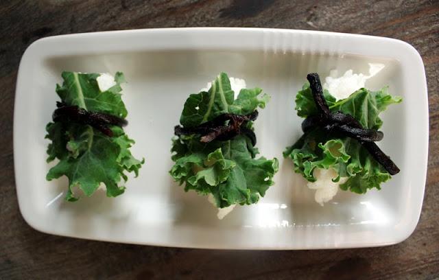 Oppskrift Vegan Vegetar Vegansk Sushi Nigiri Grønnkål