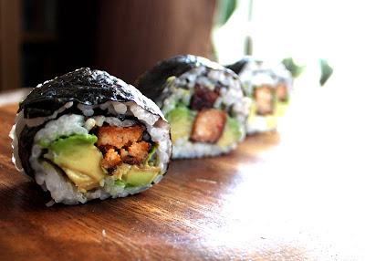 Oppskrift Sushi Vegansk Vegan Vegetarsushi Hvordan Lage Hjemmelaget Mungbønnespirer Tofu