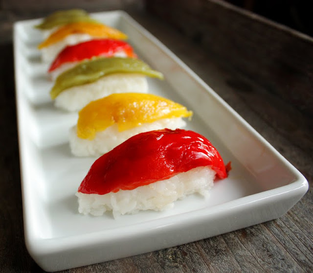 Oppskrift Hjemmelaget Sushi Nigiri Vegetar Vegan Hvordan Lage