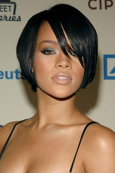 Short Black Haircuts for Women Rihanna Hairstyle Pictures