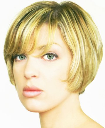 tapered bob hairstyle