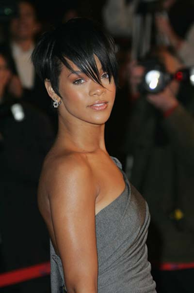 rihanna short hair 2010. Short Hairstyle,Rihanna New