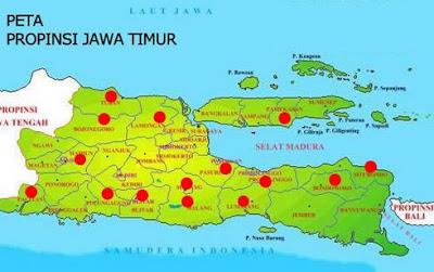 gambar Peta Jawa Timur (Jatim)