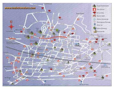 Gambar Peta jalan kota Bandung