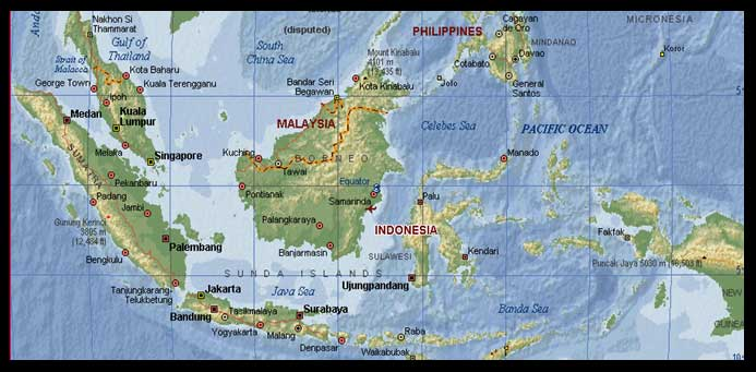 Peta Indonesia Dunia di Atlas