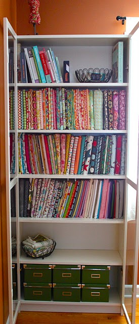Someday crafts fabric storage idea mini bolts for Bolt storage ideas