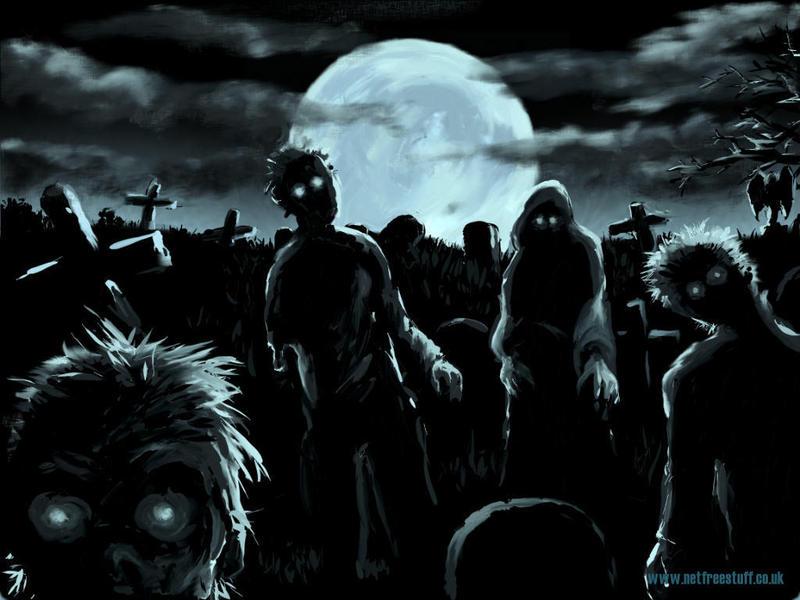 cemetery at night. Monday Night 11:58PM