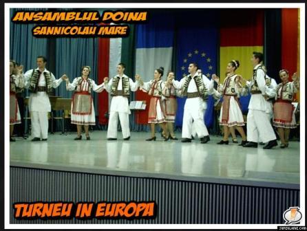 Ansamblul  Doina din Sannicolau Mare in Europa