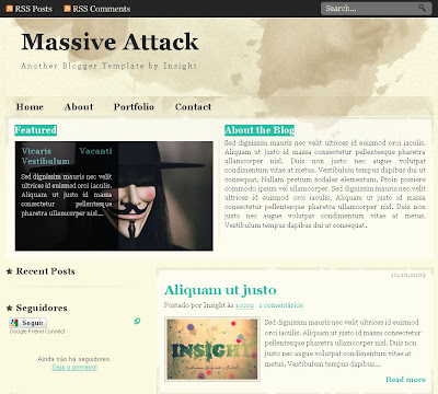 massive attack blogger theme