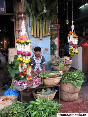 phool gully flower market in south mumbai