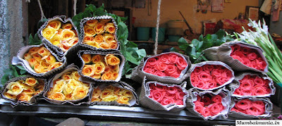 roses sold at phool galli in bhuleshwar
