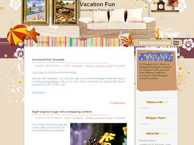 Vacation Fun, a Travel Blog Theme