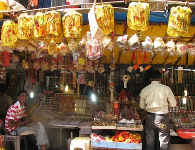 Shops selling puja items