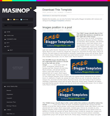 Masinop Blogger Theme