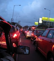 Traffic congestion in Mumbai