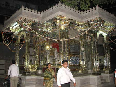 Decorated temple for Jain monk