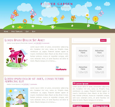 Flower Garden Blogger Theme