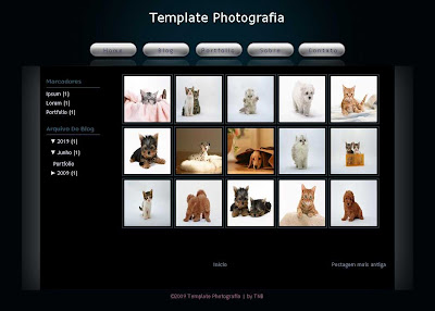 photografia, photo blogger template
