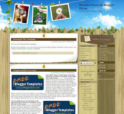 Wooden Fence Blogger Theme