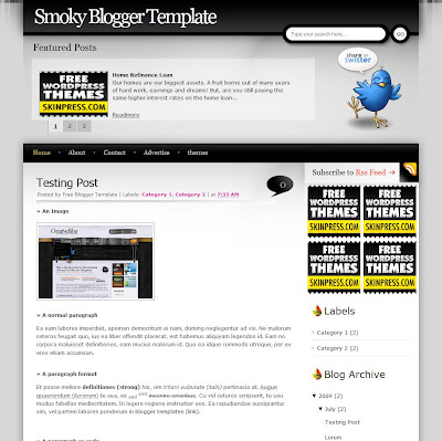 Smoky Blogger Theme