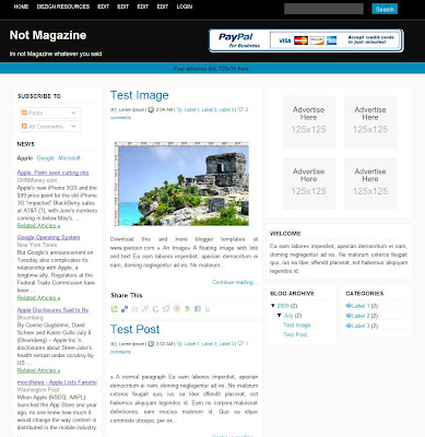 Not Magazine Blogger Template