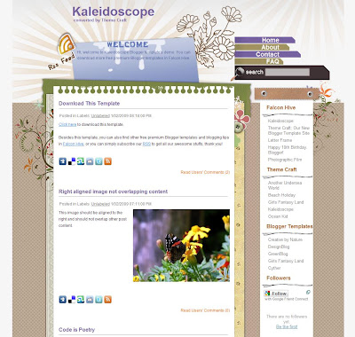 Kaleidoscope Blogger Template