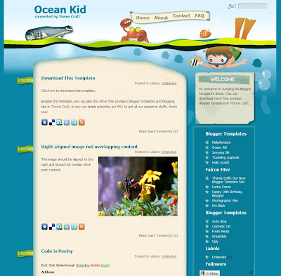 Ocean Kid Blogger Theme