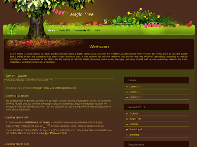 Magic Tree Blogger Template