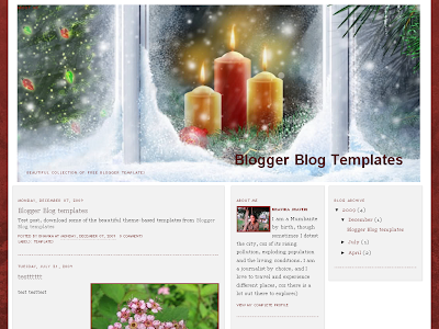 Christmas Warmth Blogger Theme
