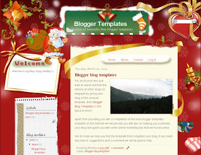 Merry Christmas Blogger Theme