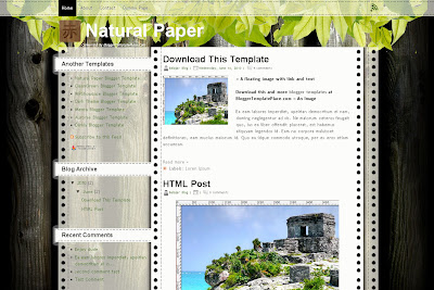 Natural Paper Blogspot Template