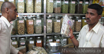 rainbow spice shop at mirchi gully in crawford market