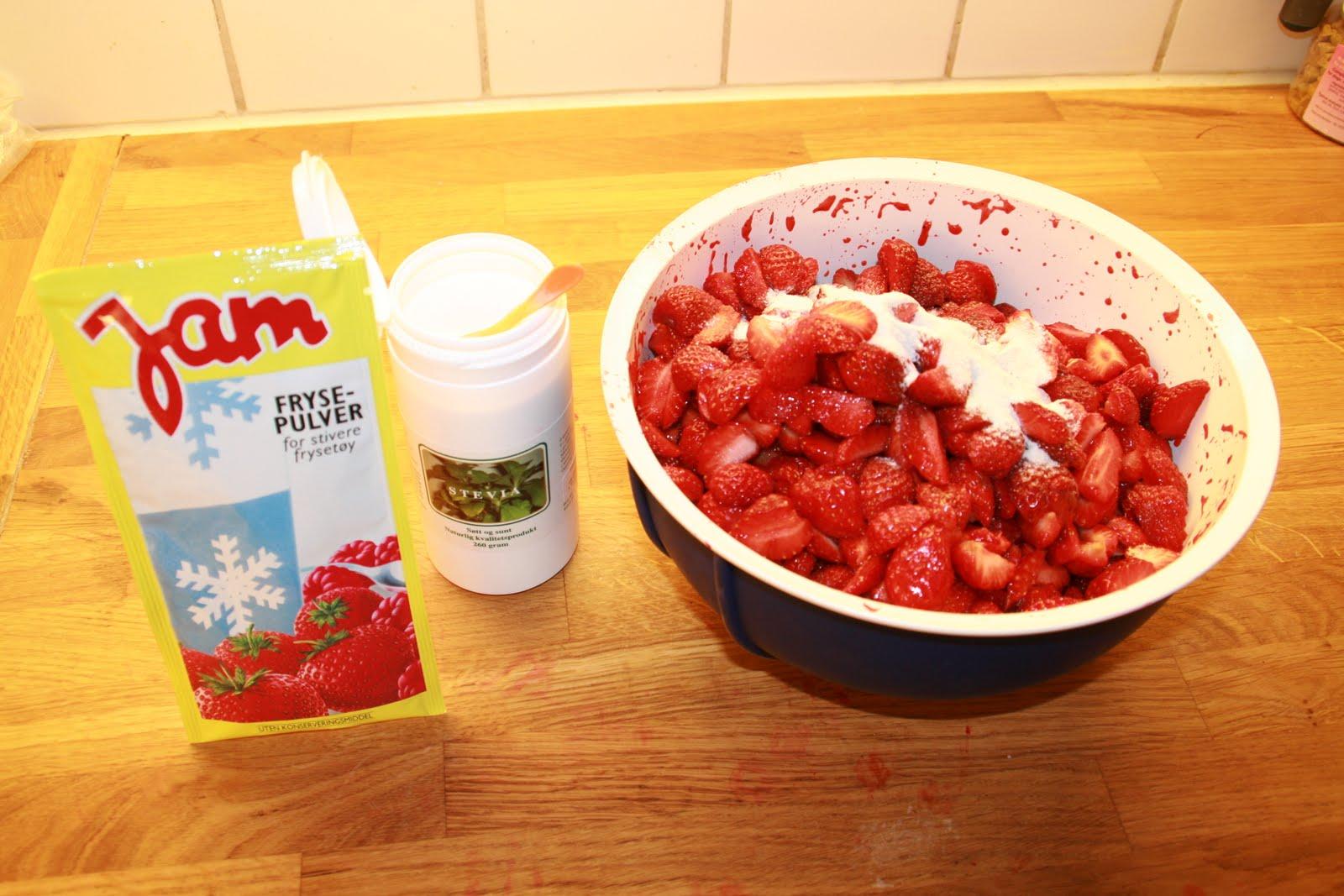 Frysepulver rørte jordbær