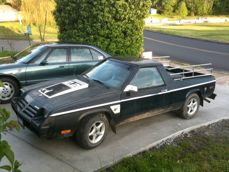 Old Parked Cars.: 1983 Dodge Rampage.