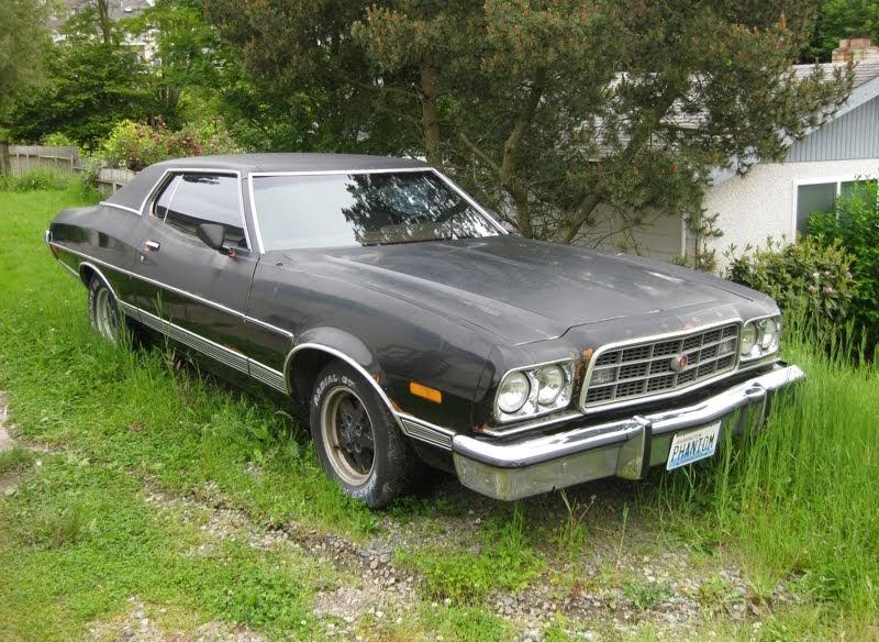 old parked cars 1973 ford gran torino hardtop. Black Bedroom Furniture Sets. Home Design Ideas