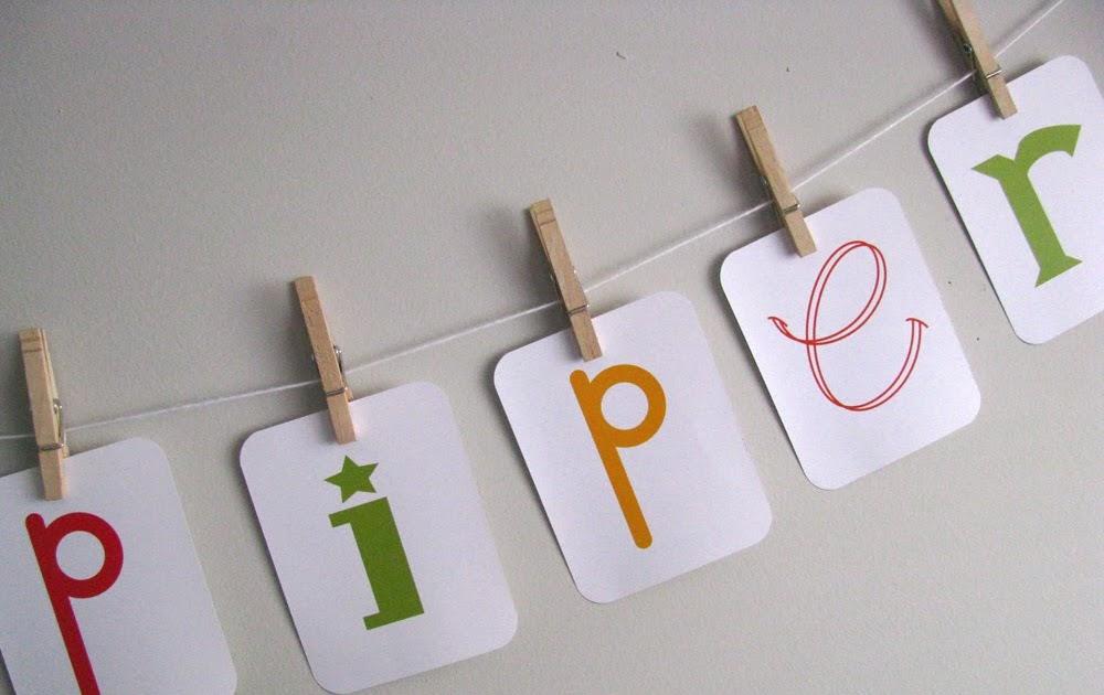 Etsy Alphabet Letters