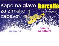 Nagradna igra Barcaffe Kapo na glavo za zimsko zabavo