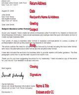 letter formatting enclosures