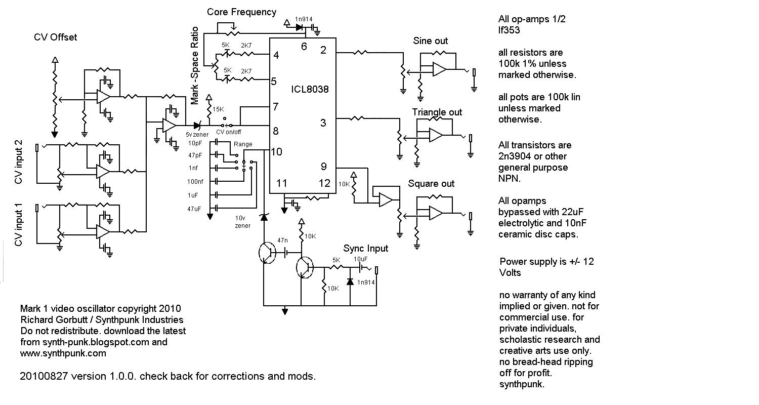 SynthPunk\'s blog: VCO schematic