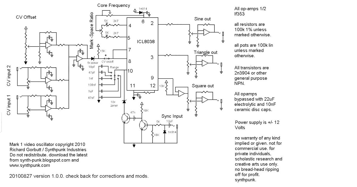 SynthPunk's blog: VCO schematic
