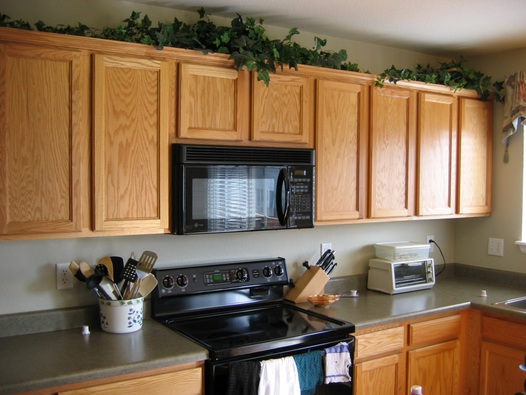 Decor for on top of kitchen cabinets best home for Interior designs of cupboards