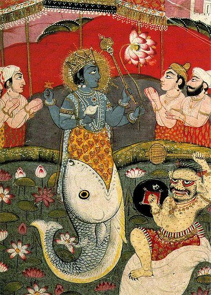 Incarnation of Vishnu as a fish