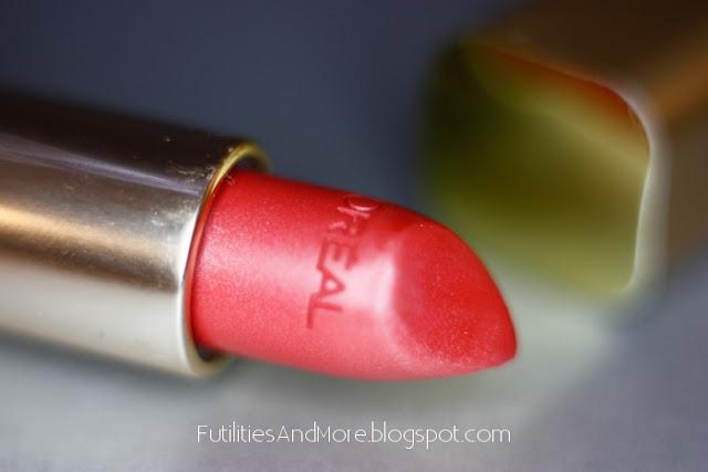 Tropical Coral, l'Oréal, nude lipstick, l'oreal lipstick, lipstick, futilitiesandmore, futilitiesandmore.blogspot.com width=