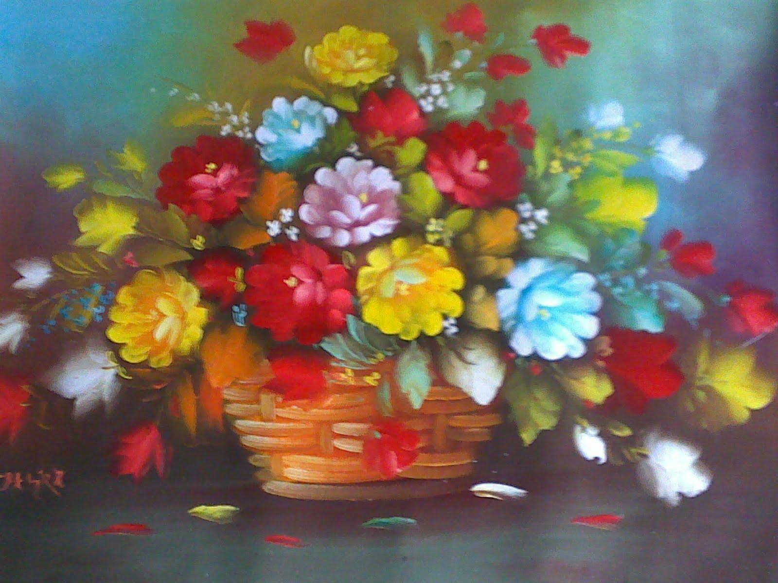 Bunga+ros,+ukrn+80x60.jpg harga Rp. 150.000 (tanpa bingkai & belum ...